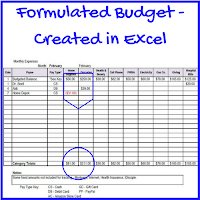 Formulated Budget Spreadsheet - Excel - #happygeek - Authentic in My Skin