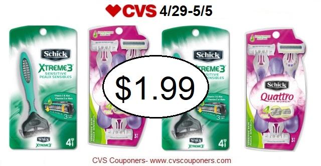 http://www.cvscouponers.com/2018/04/hot-pay-199-for-schick-disposable-razor.html