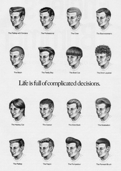 A Vintage Collection Of Menu0027s Hairstyles