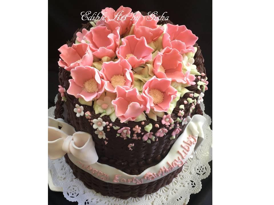 Edible Art By Gisha Pucheta Not Geisha Basket Cakes Tortas