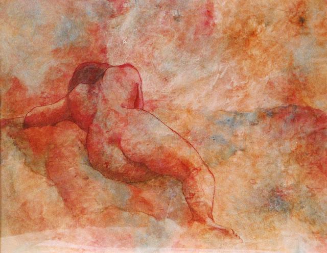 Nude Reclining - Painting - Rosemary Marchetta