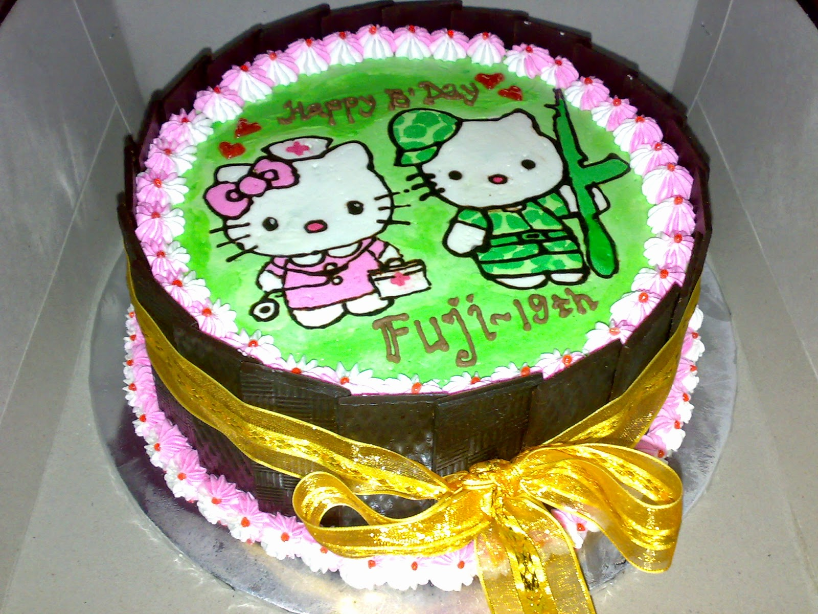 Cake Gambar Hello Kitty