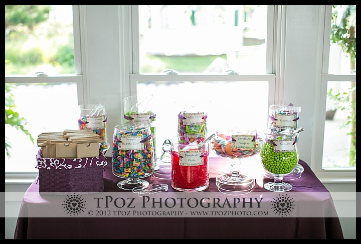 Candy Buffett at Kurtz's Beach Wedding Reception