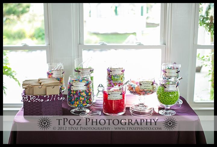 Candy Buffett at Kurtz's Beach Wedding Reception