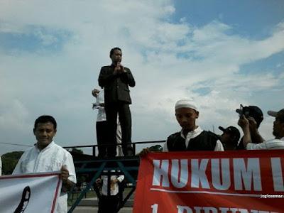 Turun ke Jalan, Wakil Bupati Sragen Minta Tangkap & Adili Ahok Penista Agama