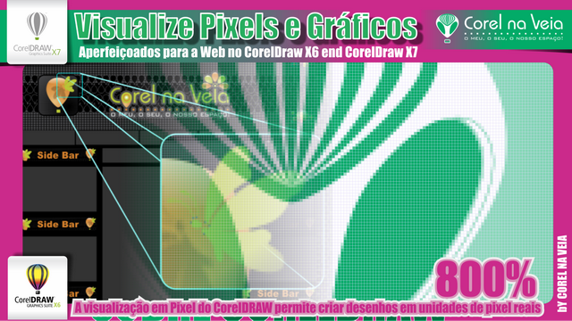 Visualize Pixels e Gráficos Aperfeiçoados para a Web no CorelDraw