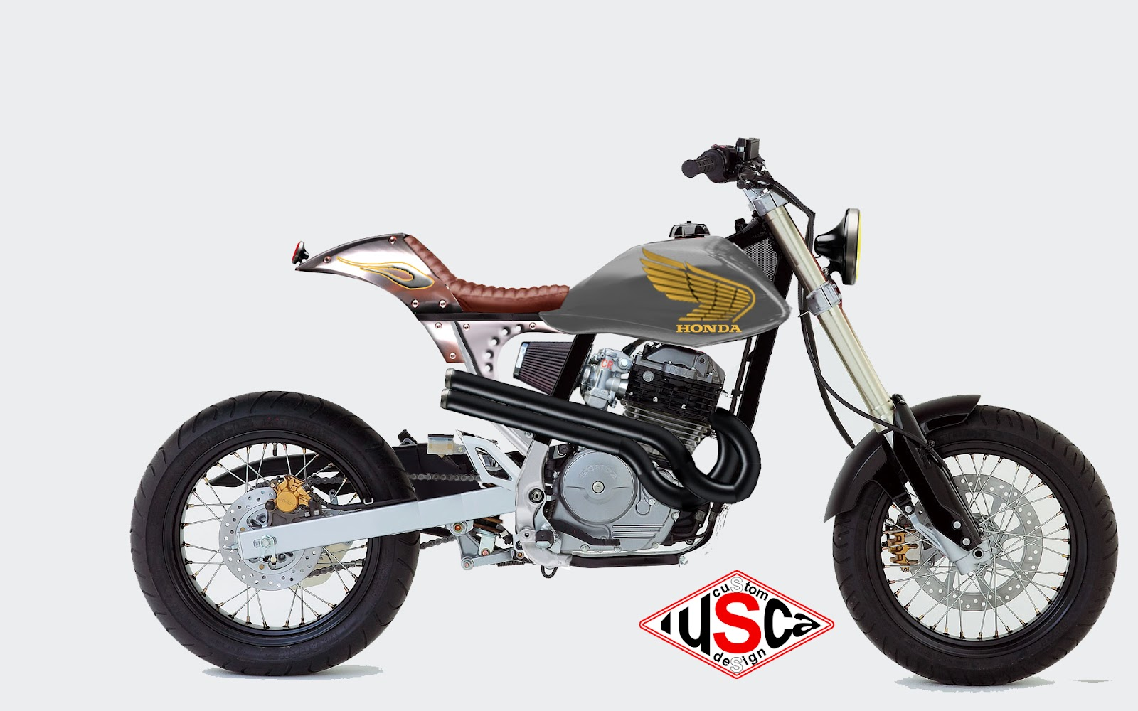 lusca custom design honda fmx 650 drift. Black Bedroom Furniture Sets. Home Design Ideas