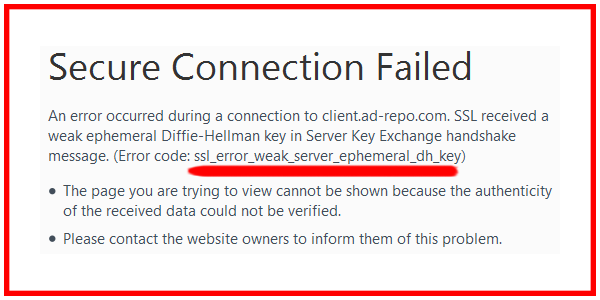 Fix ssl_error_weak_server_ephemeral_dh_key Firefox