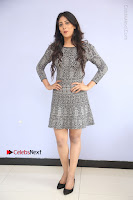Actress Chandini Chowdary Pos in Short Dress at Howrah Bridge Movie Press Meet  0094.JPG