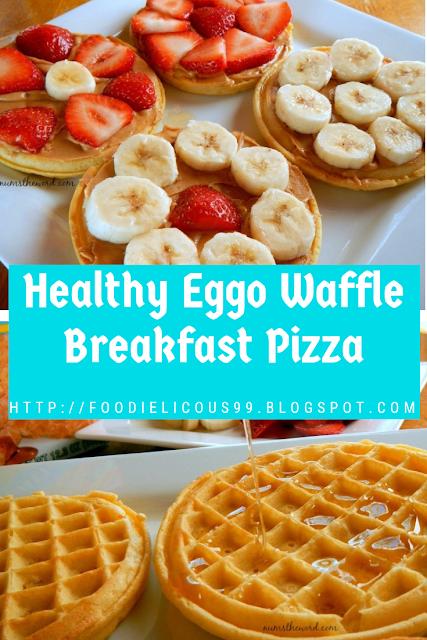 Healthy Eggo Waffle Breakfast Pizza
