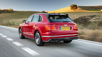 2017 New Bentley Bentayga Test performance back red edition