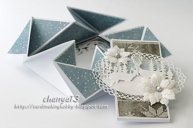313. Kartka świąteczna – napkin fold card