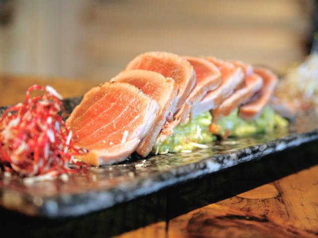 Tartar de salmón en Ene50