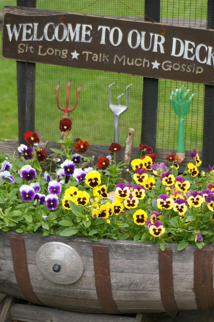 Garden Art From Junk Upcycling