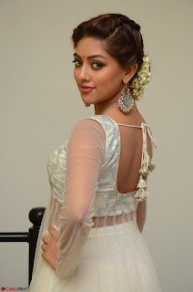 Anu Emmanuel in a Transparent White Choli Cream Ghagra Stunning Pics 022.JPG