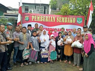 Kapolres dan Dandim 0505 Jakarta Timur Berikan Sembako dan Santunan Anak Yatim