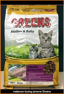 makanan kucing jenama Greens Malaysia