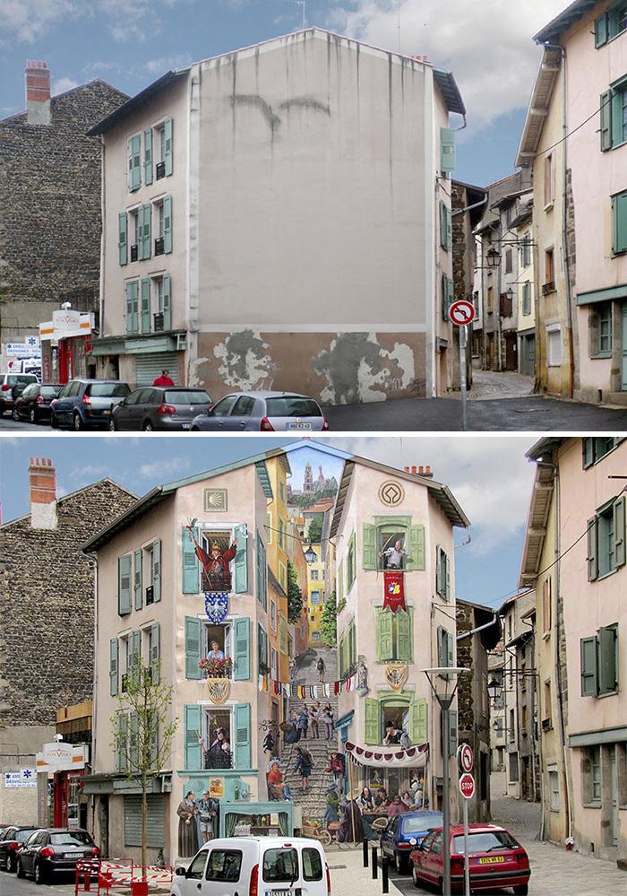 French Artist Transforms Boring City Walls Into Vibrant Scenes Full Of Life - Renaissance