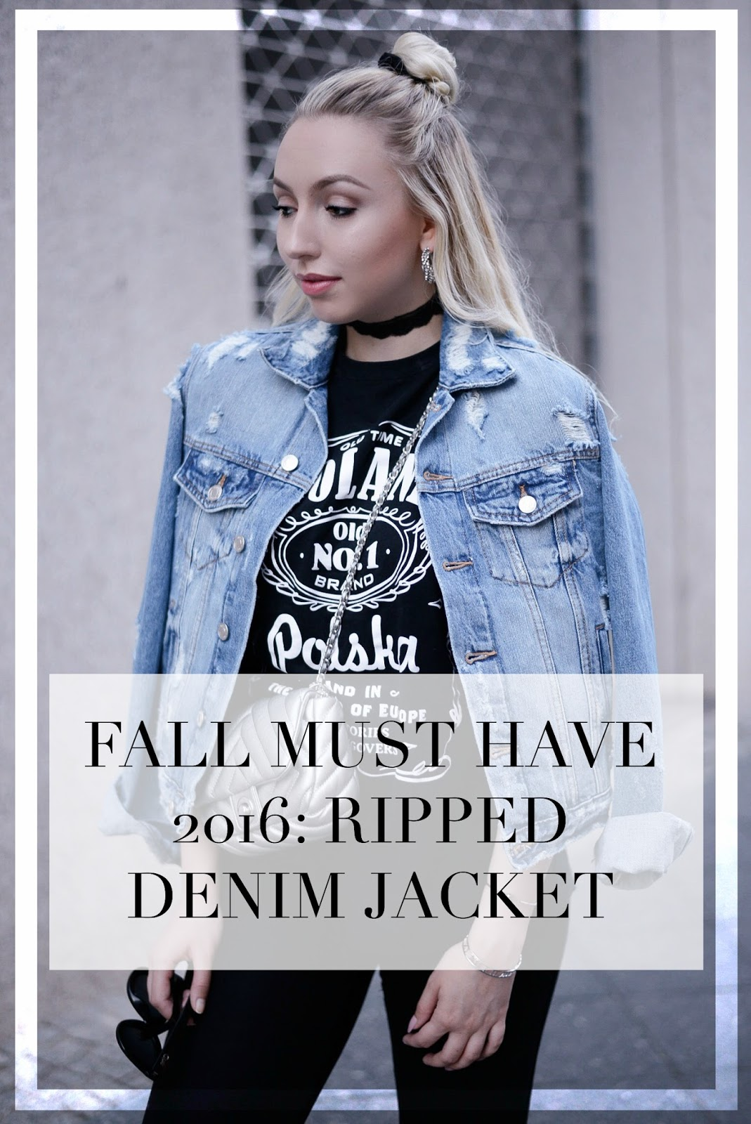 ripped denim jacket for fall