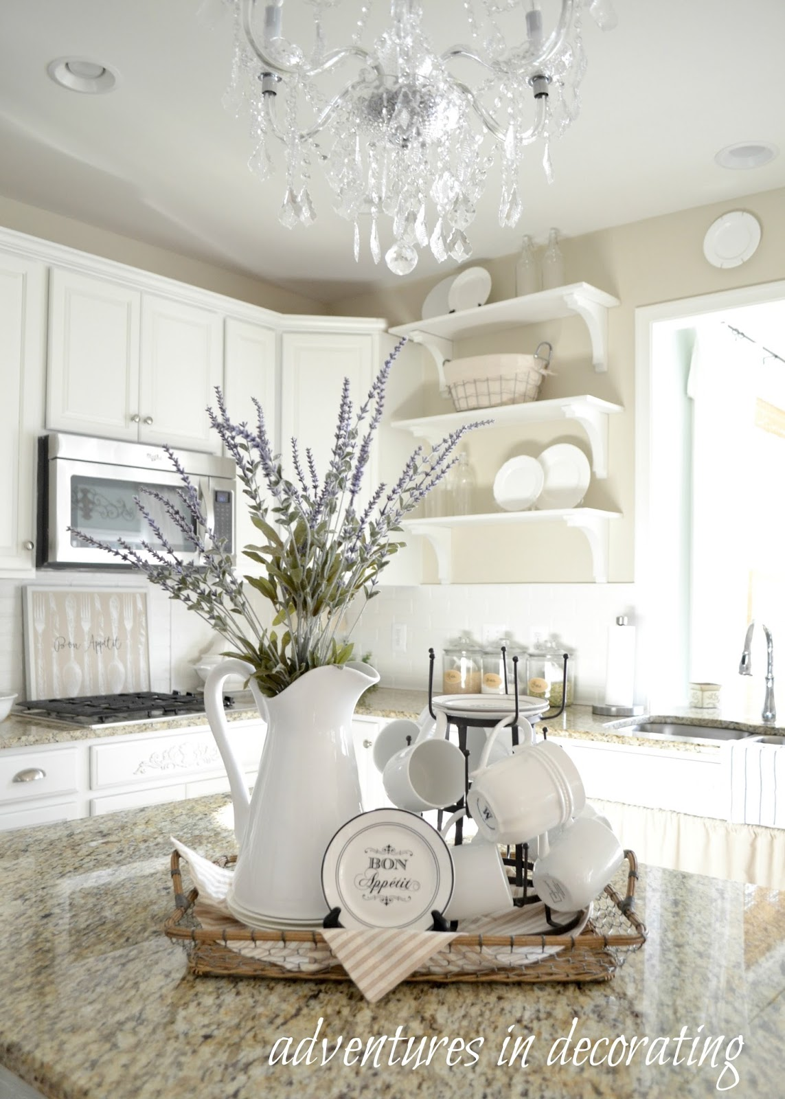 Adventures in Decorating: Our Summer Kitchen on Farmhouse Kitchen Counter Decor Ideas  id=22235
