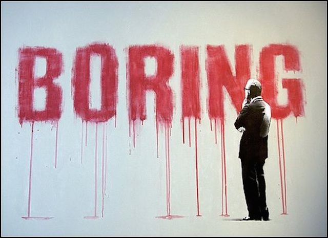 Grafiti Terbaik 2015 - Boring, galau, ngambek