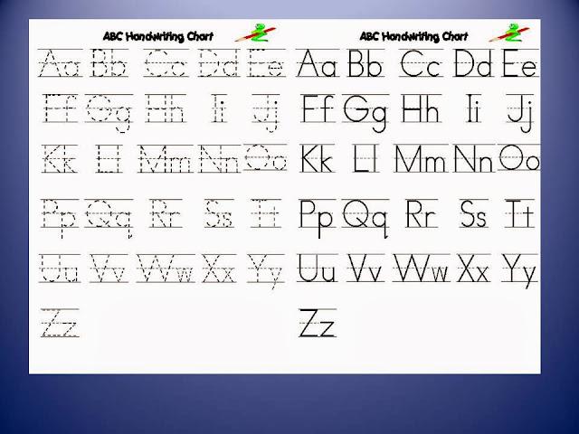 abc handwriting practice hand writing. Black Bedroom Furniture Sets. Home Design Ideas