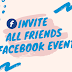 How to Invite All Friends In Facebook event