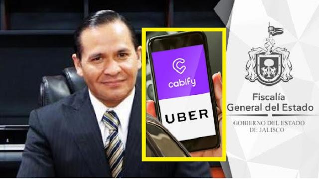 Fiscal de Jalisco recomienda a la población no usar Uber ni Cabify