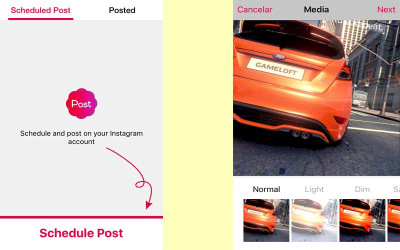 Programar fotos en Instagram con Apphi