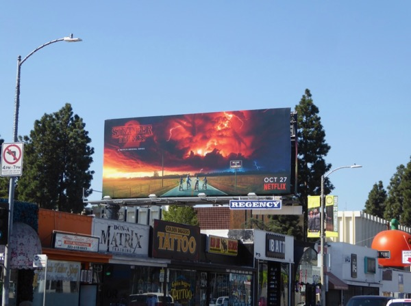 Stranger Things season 2 billboard