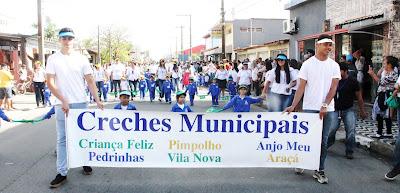 Ilha  Comprida celebrou dia da Pátria com desfile na Copacabana