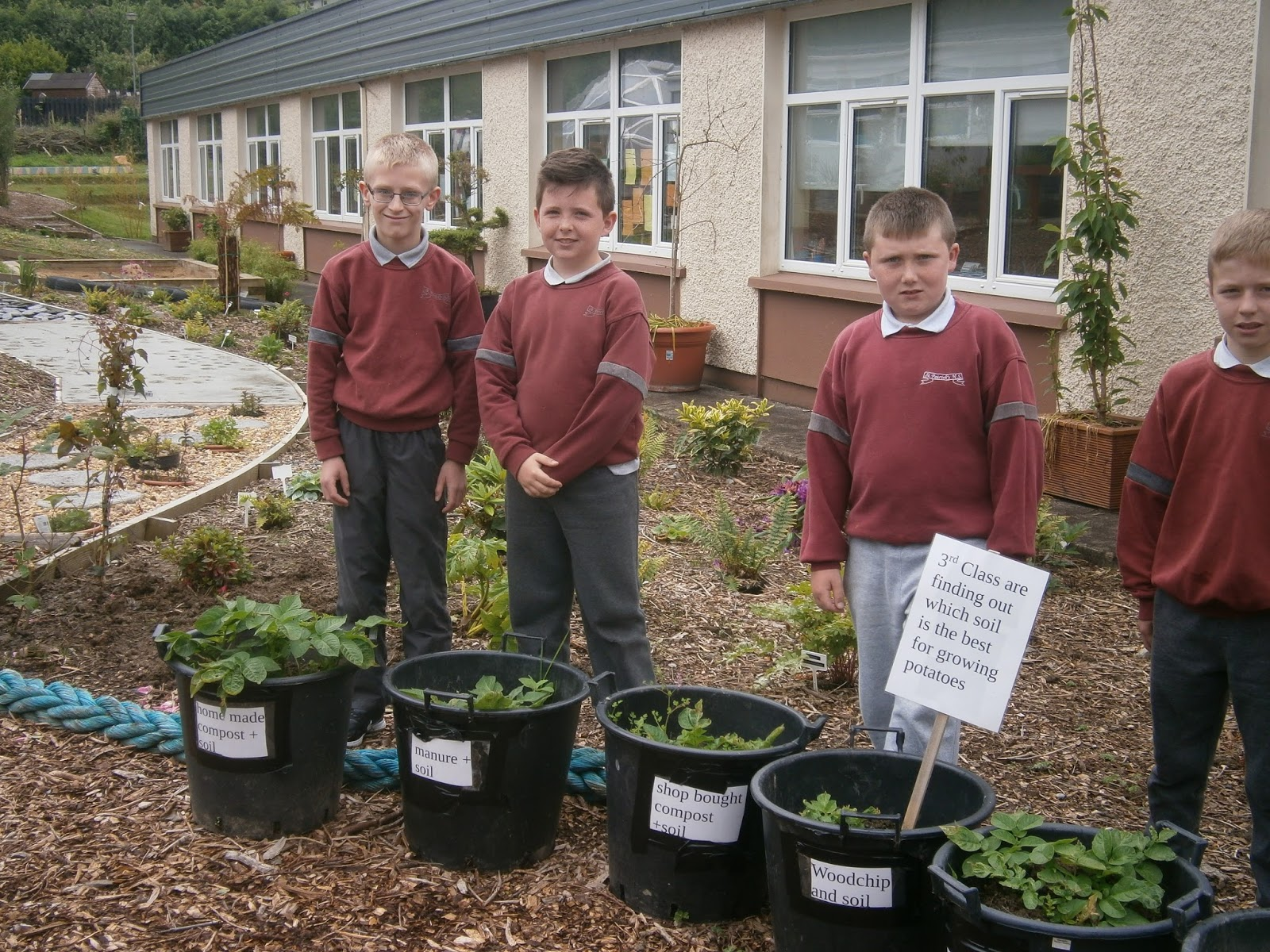 First Up Was A Trip To To St Patricku0027s Boys National School In Skibbereen  Who Have Developed A Wonderful Garden On What Was Once A Grassy Slope.