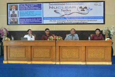 "Press Release Nuclear Talks 2016 Kalimantan Timur: ""PLTN sebagai Solusi Kemajuan Industri yang Ramah Lingkungan"""