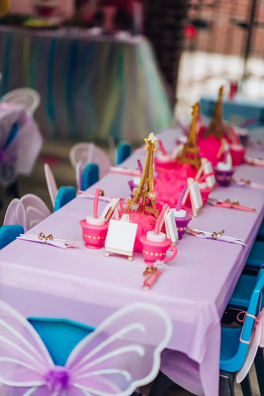 Madeline's Fancy Nancy, Paris, Butterfly Themed 4th Birthday Party - Something Delightful Blog #partyplanning #kidsbirthdayparty #birthdaypartyideas #parisparty #butterflyparty #fancynancy #fancynancyparty #fourthbirthdayideas