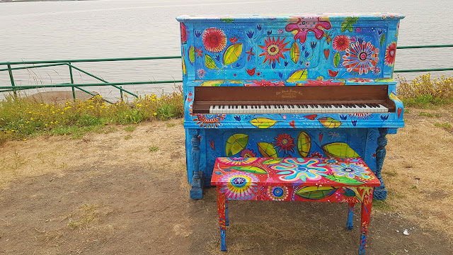 One of the exhibits in Oak Bay's summer public art displays
