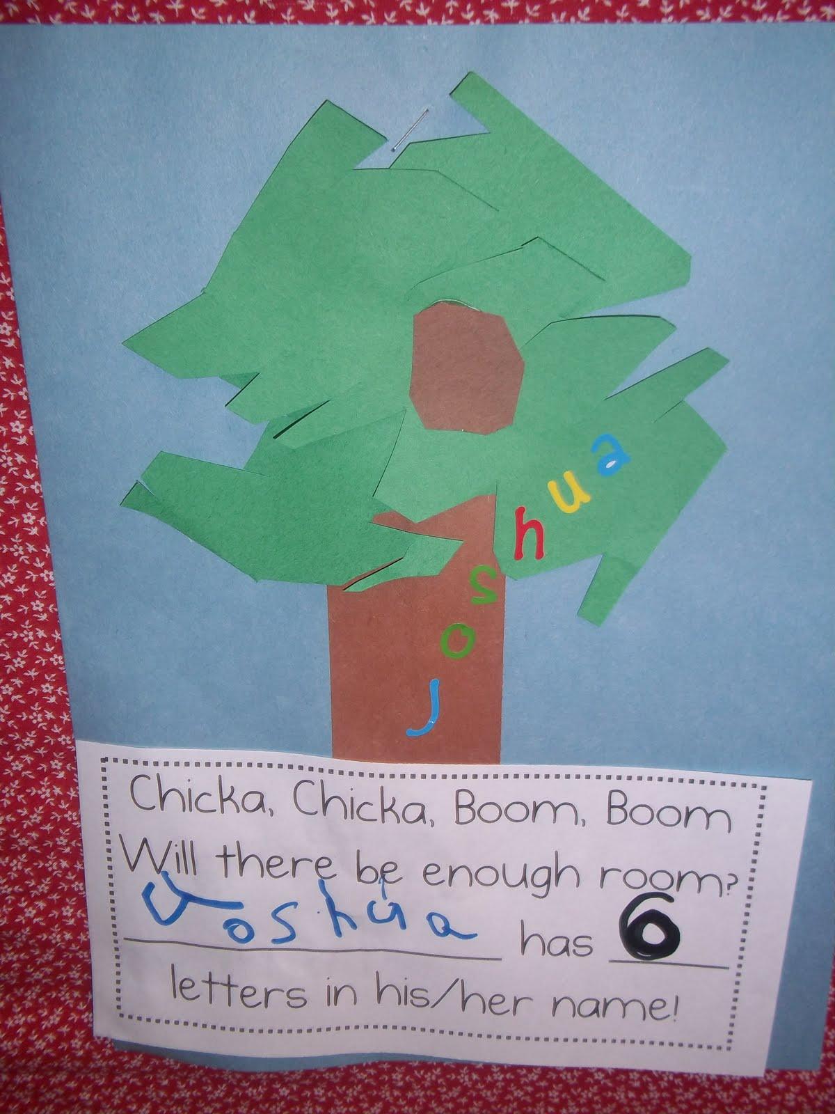 Mrs Wood S Kindergarten Class Chicka Chicka Boom Boom