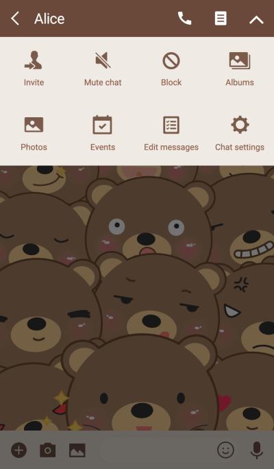 Simple Emotions Brown Bear Theme
