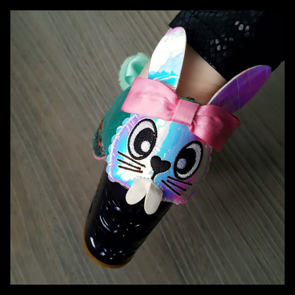 wearing irregular choice snuggle bunnie bunny face