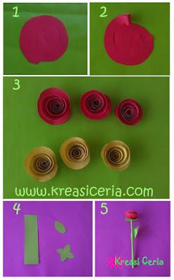 Tutorial cara membuat bunga mawar dari kertas