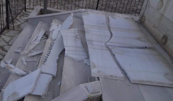 Βανδάλισαν το μνημείο του Θεόδωρου Κολοκοτρώνη στην Μεσσηνία