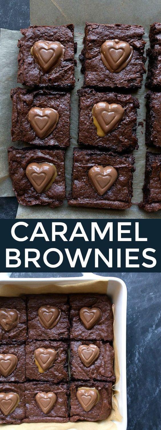 Caramel Brownies Valentine