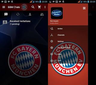 BBM Mod Bola Terbaru Versi 3.3.6.51 Apk 2017 Clone Tema Klub Eropa + Liga Indonesia Gratis