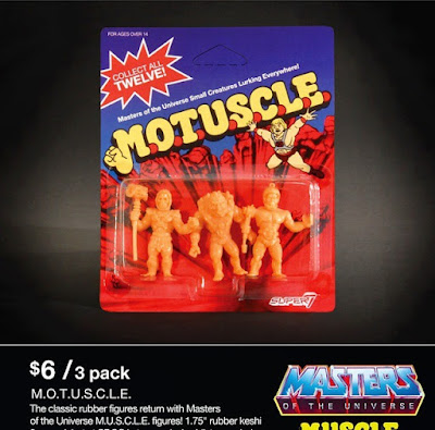 San Diego Comic-Con 2015 Exclusive Pink Edition Masters of the Universe M.U.S.C.L.E. Mini Figures by Super7 x Mattel