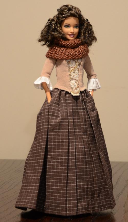 Scottish dress for Barbie doll.