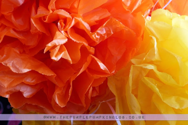 [Orange & Yellow 40th Birthday Party] Decorations & Table Centerpieces