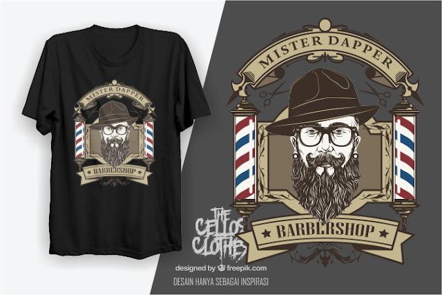 sablon kaos barbershop barber shops