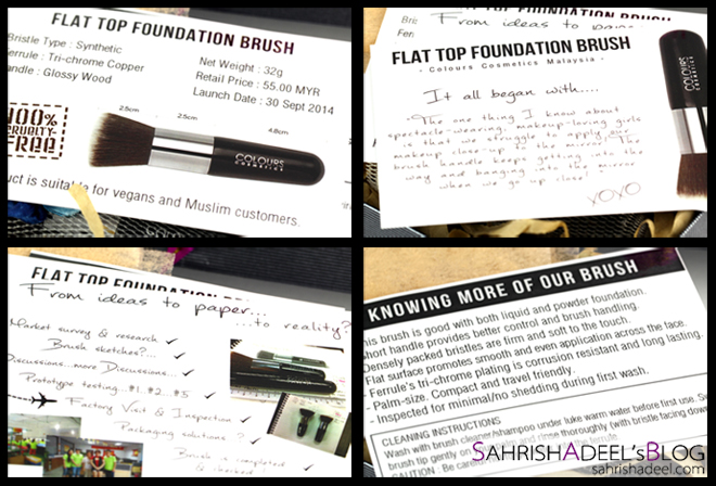 NEW Flat Top Foundation Brush by Colours Cosmetics Malaysia - Review & Comparison