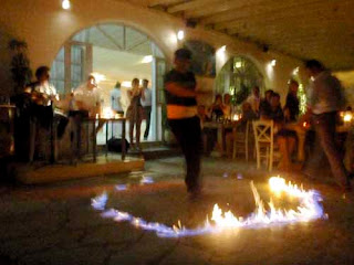 Greek Fire Dancing Mykonos Greece