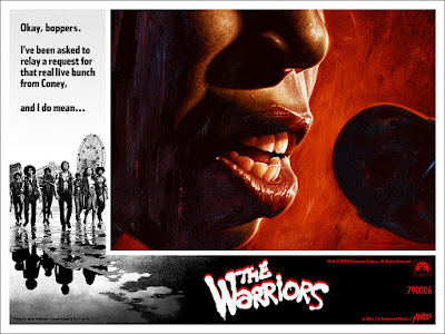 The Warriors Movie Poster Screen Print by Jason Edmiston x Mondo