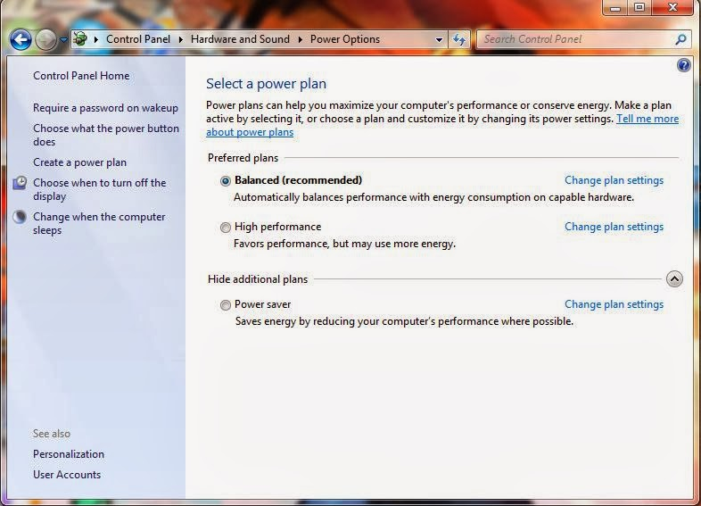 how to change power plans for windows?